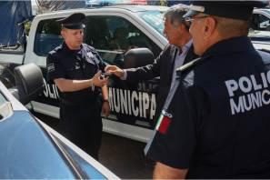 Gabriel García Rojas entrega nuevas patrullas a la Secretaría de Seguridad Pública, Tránsito y Vialidad Municipal