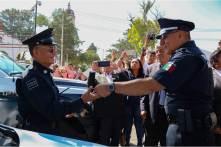 Gabriel García Rojas entrega nuevas patrullas a la Secretaría de Seguridad Pública, Tránsito y Vialidad Municipal5