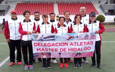 Hidalguenses brillan en nacional de Atletismo Máster1