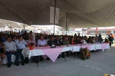 Inaugura en Tizayuca el Movimiento Antorchista nuevas instalaciones de una primaria y de un kínder