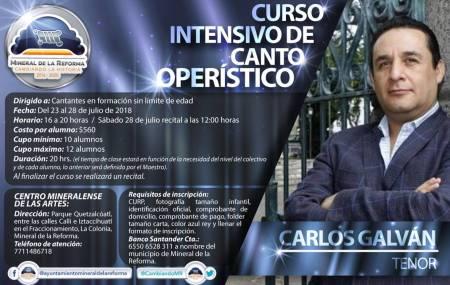 Invita el CEMART a curso intensivo de canto operístico 1