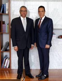 Omar Fayad sostiene reunión con Raúl Arroyo nuevo Procurador General de Justicia en el Estado de Hidalgo3