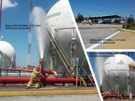 Pemex realiza 99 simulacros como parte del Día Nacional de la Preparación y Respuesta a Emergencias Químicas