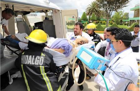 Realizan el traslado aéreo, de una mujer de 77 años, con diagnóstico de insuficiencia cardíaca