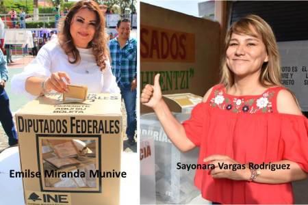 Sayonara Vargas voto en Huejutla; Emilse Miranda, en San Bartolo Tutotepec