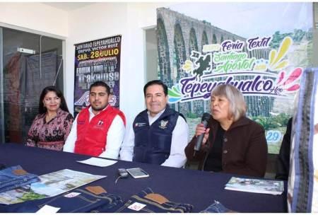 Todo listo para la Expo Feria Textil en Tepeyahualco