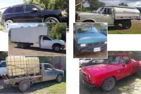Aseguran seis camionetas presuntamente relacionadas con el robo de hidrocarburo