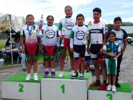 Ciclistas hidalguenses suben al podio en el Campeonato Regional Zona Centro 2018.jpg