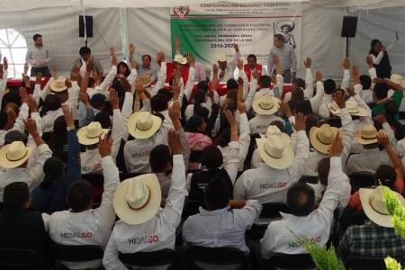 Consejo Político CNC en Hidalgo valida el apoyo a Hernández Derás como dirigente nacional