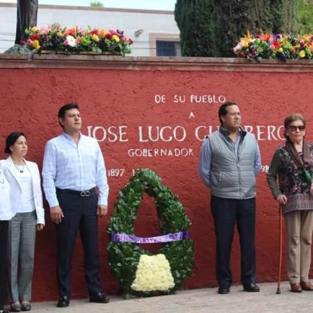 Daniel Rolando Jiménez Rojo encabezó aniversario luctuoso de José Lugo Guerro