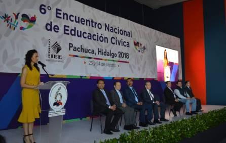 Encabeza IEEH Sexto Encuentro Nacional de Educación Cívica5
