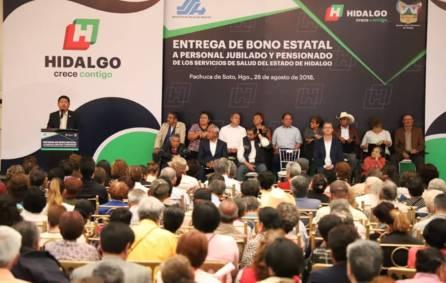 Gobierno de Hidalgo reconoce a través de la SSH a jubilados y pensionados de los Servicios de Salud2