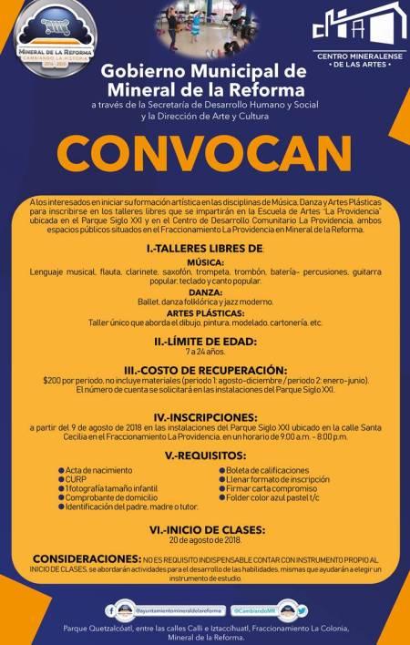 Lleva alcalde Raúl Camacho talleres libres de educación artística inicial a La Providencia 1