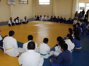 Medallistas centroamericanos conviven con deportistas de Escuelas de Iniciación 1