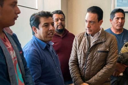 Omar Fayad se reúne con familiares de víctimas del derrumbe de la mina de Denganzha, reitera su solidaridad y apoyo