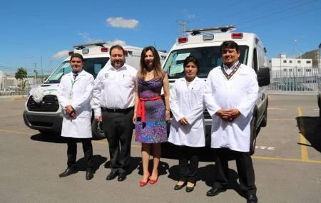 Se entregan tres ambulancias nuevas para IMSS Prospera en Hidalgo