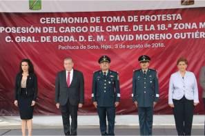 Tienden puentes de colaboración Gobierno de Hidalgo y nueva dirigencia de la 18va. Zona Militar