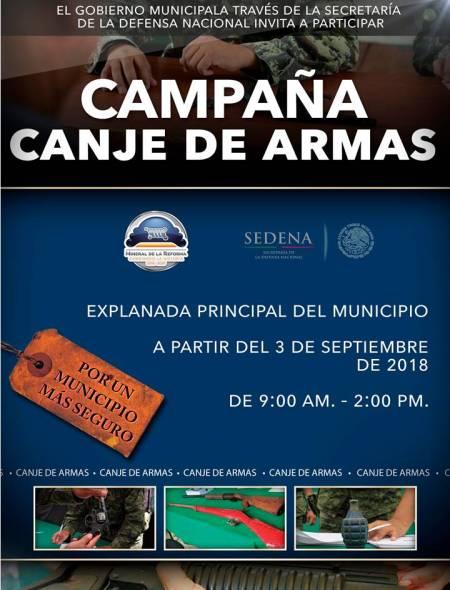 Arranca campaña de Canje de Armas en Mineral de la Reforma1