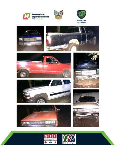 Aseguran vehículos con contenedores y robados