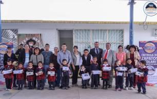 Avanza entrega de zapatos escolares en preescolares de Mineral de la Reforma 1