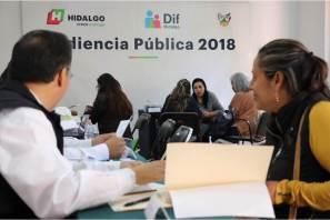 DIF Hidalgo ofrece audiencia pública y brinda apoyos a los solicitantes