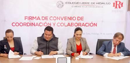 Firman convenio de colaboración Instituto Reyes Heroles y Colegio Libre de Hidalgo1