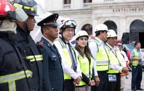 Gobierno de Hidalgo participó en Macro Simulacro Nacional 20181