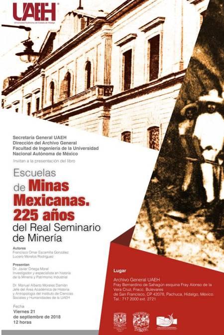 Presentarán Archivo Histórico de UAEH y la UNAM libro sobre educación minera