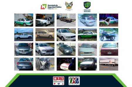 Recuperan 20 vehículos con reporte de robo en zona metropolitana de Pachuca