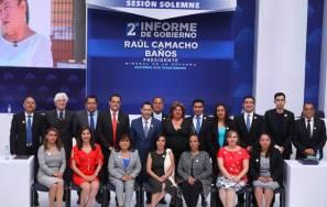 Rinde Raúl Camacho Baños Segundo Informe de Gobierno 1