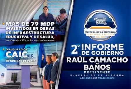 Segundo Informe de Gobierno de Raúl Camacho Baños, presidente municipal de Mineral de la Reforma1