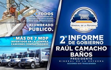 Segundo Informe de Gobierno de Raúl Camacho Baños1