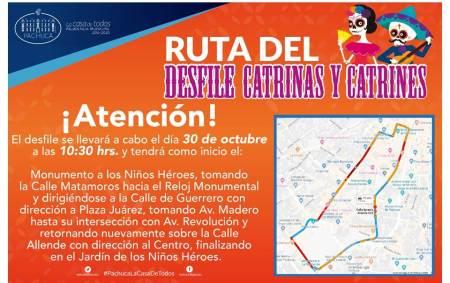 Anuncian desfile de catrinas en el centro de Pachuca
