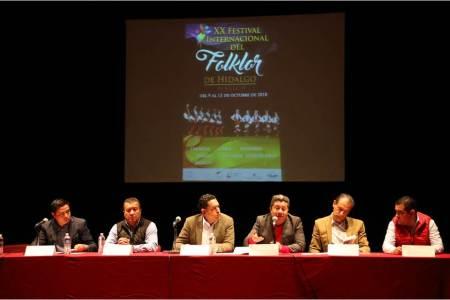 Anuncian el XX Festival Internacional del Folklor de Hidalgo 2018