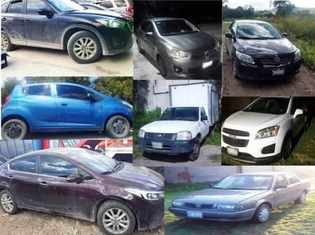Aseguraron ocho vehículos con reporte de robo y alteraciones en sus medios de identificación