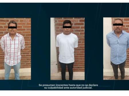 Con videovigilancia y operativo policial, tres detenidos2