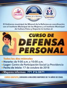 Convocan a mujeres a curso de defensa personal en Mineral de la Reforma 3