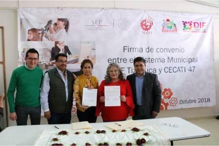 DIF Municipal de Tizayuca y CECATI No. 47 Firman convenio de colaboración3