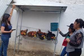 Entrega Santiago Tulantepec paquetes de autoconsumo