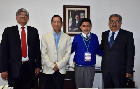 Estudiante ganador del Premio Nacional de la Juventud 20182