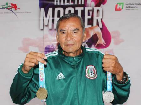 Hidalguense conquistó oro y plata en Centroamericano de Atletismo Máster2