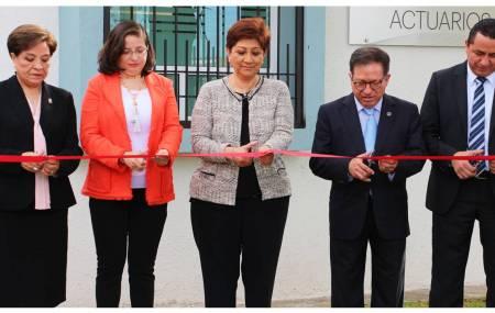 Magistrada Blanca Sánchez inaugura nueva Coordinación de Actuarios1