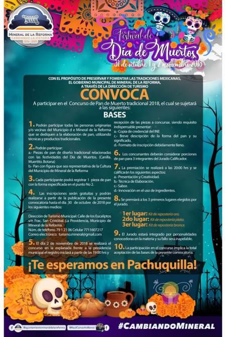 Mineral de la Reforma invita a Concurso de Pan de Muerto2