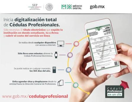 Obtención de Cédula Profesional 100% en línea a partir de octubre4