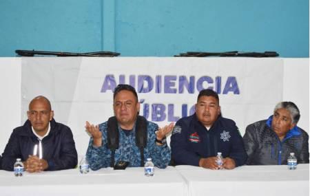 Policía Estatal brinda audiencia pública en Mineral del Monte
