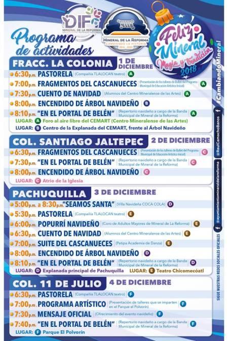 Alistan encendidos de árbol y programas navideños del 1 al 4 de diciembre en Mineral de la Reforma