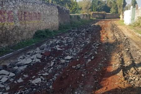 Asfalto para la comunidad de Sayola en Santiago Tulantepec