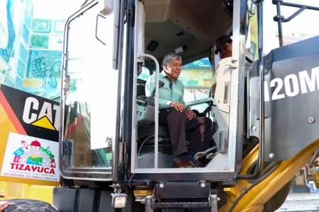 Ayuntamiento de Tizayuca incrementa su maquinaría para la Secretaría de Obras Públicas