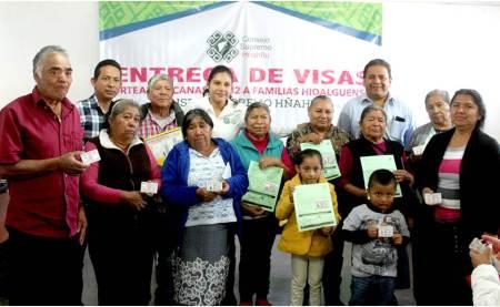CSH entrega visas tipo B1B2 a familias hidalguenses