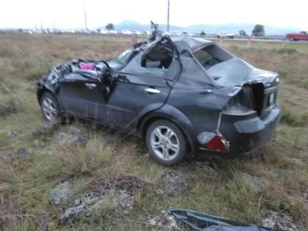 Cuatro personas mueren en choque registrado en la carretera México-Tuxpan, en el tramo de Tulancingo